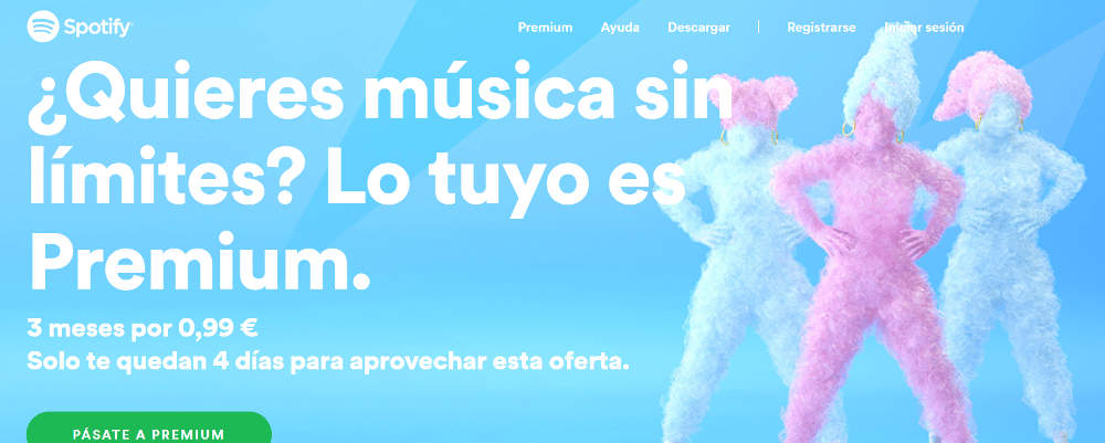 Spotify tendencias diseño web 2019