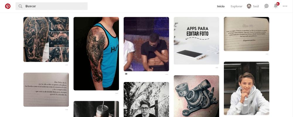 Tendencias web Pinterest 2019